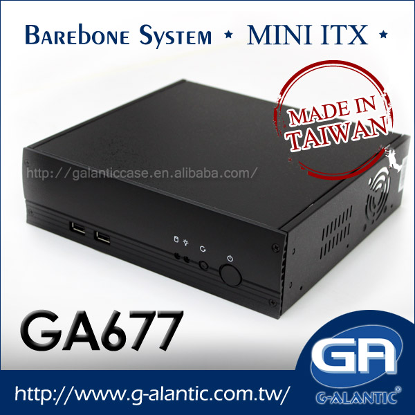 GA677 - Industrial PC Case Thin Client Desktop Computer Mini ITX Case