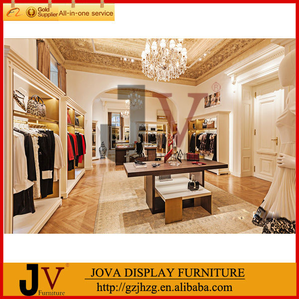 Modern boutique display rack clothes shop furniture