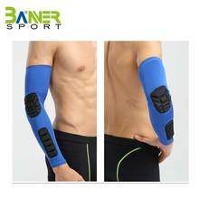 Wholesale men Safety Design Spandex Volleyball Honeycomb Arm Sleeve