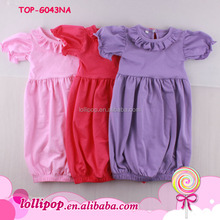 Ruffle bubble sleeve pictures of latest frock designs boutique sleep Gown tunic dress girl short sleeve ruffle gowns