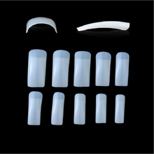 Wholesale ABS Half Curved Square False nail art Tips Plastic Artificial Fingernails ABS Artificial Nail Tips
