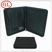 Black leather multi-function manager portfolio&a4 leather manage portfolio