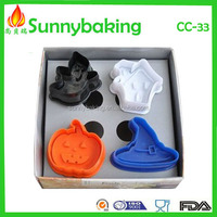 Hallowmas plastic cookie plunger cutter set