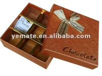 Fancy paper hot stamping luxury decorative chocolate boxes, cardboard paper craft chocolate box,sweet chocolate paper box golden