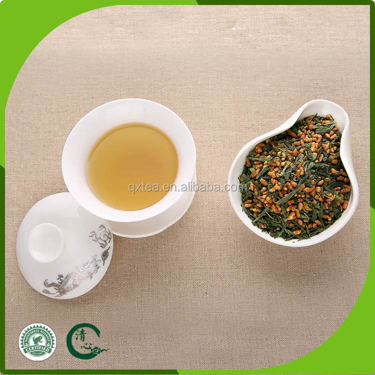 China high nutritional value genmaicha roasted brown rice green tea