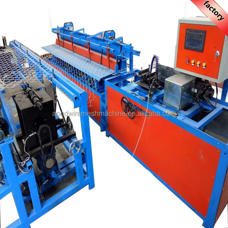 single wire autoamtic industrial diamond wire mesh net making machinary/single wire chain link fence making machine with CE SGS
