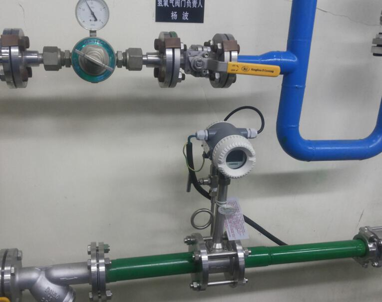 Air vortex flow meter rate of flow measurement