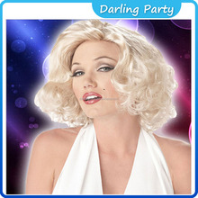 Attractive Marilyn Monroe Star Cosplay Wigs for White Women