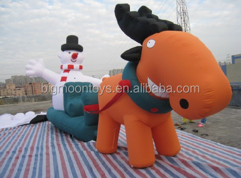 the inflatable advertising snowman/ The snowman fixed inflatable cartoon/ Inflatable Snowman for Christmas