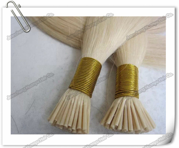 Hot selling plastics stick I-tip 100% hair extension human hair