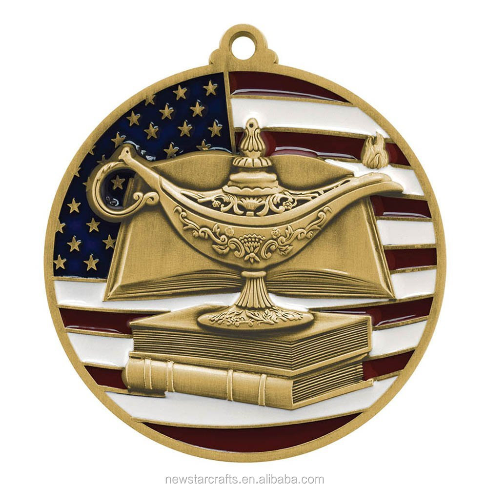 American flag Academic gold medals