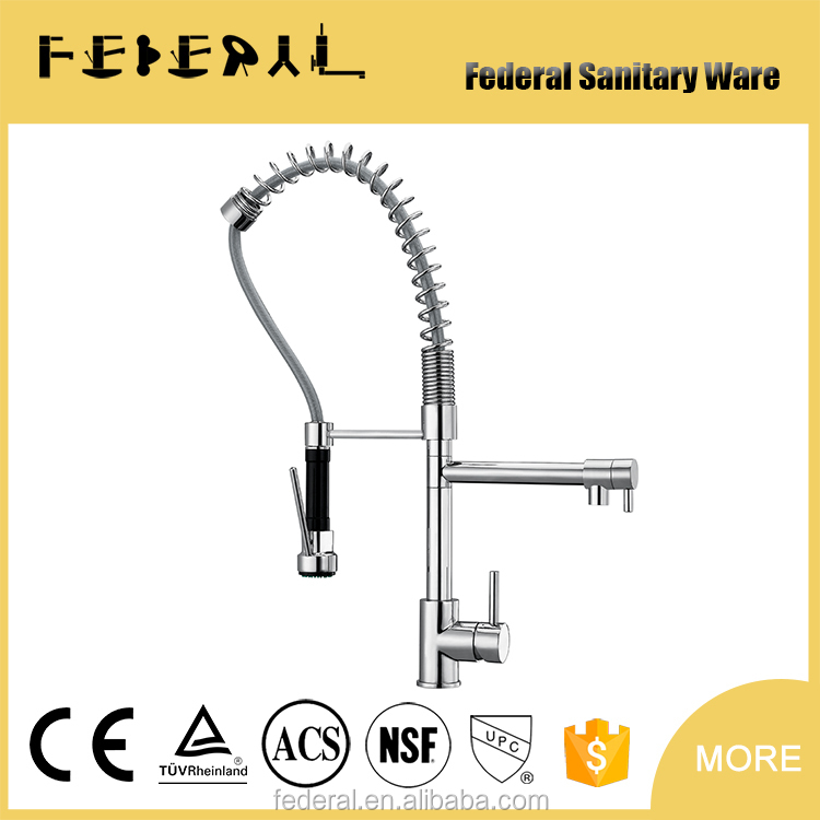 pull down Kitchen faucet for double sink
