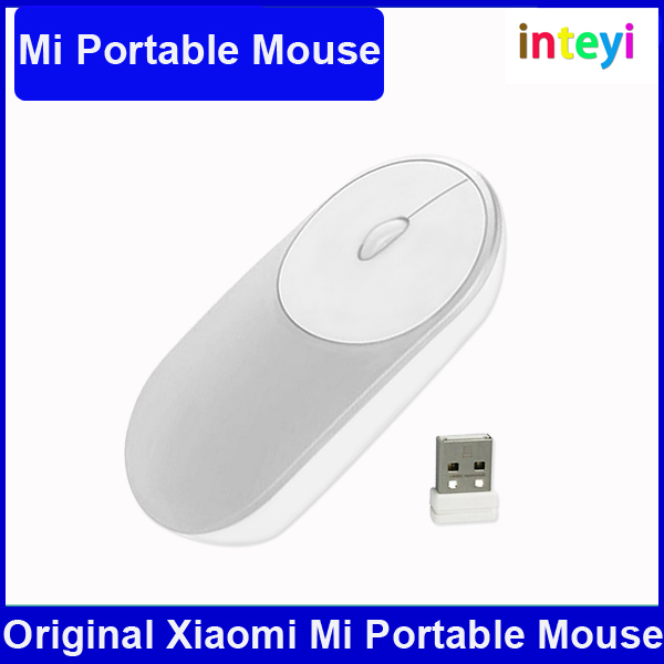 Original Xiaomi Portable Mouse Optical Bluetooth 4.0 RF 2.4GHz Dual Mode Connect for Video Game Office Laptop Desktop