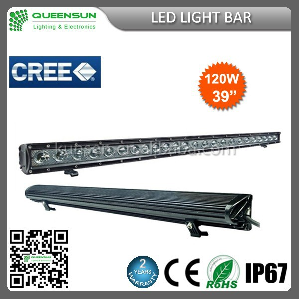 2016 NEW 39 inch 120W 4X4 off road led light bar super bright affordable price latest curved LED light bar SRLB120-C3