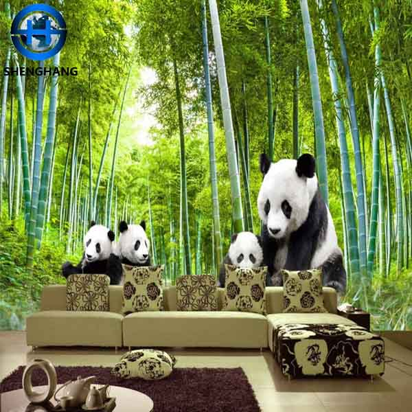 Interior Bamboo Wallpaper 3d pvc/non woven fabric wall paper with low price in china dalian