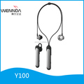 Head hanging sports Bluetooth headset, mono business bluetooth headset, Share a disassembled Bluetooth receiver (Wennda Y100)