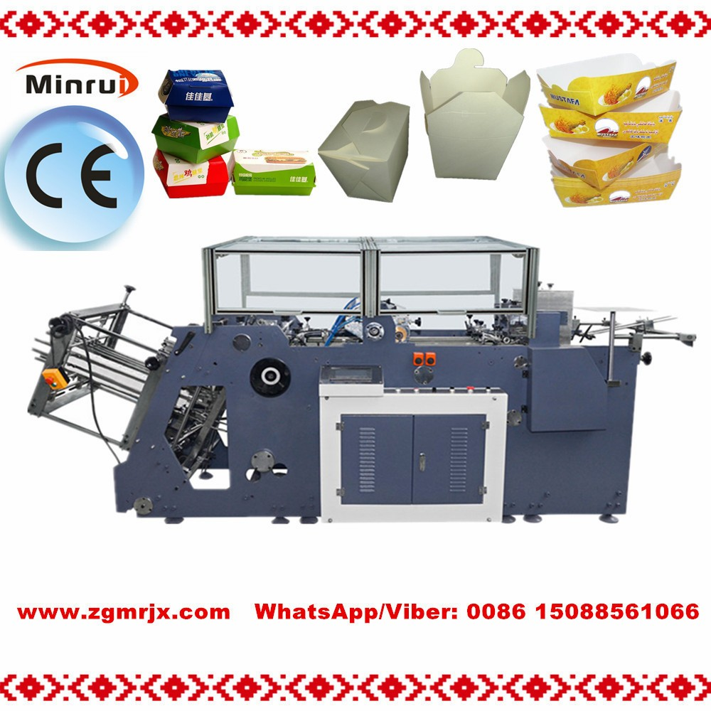 MR-800C Automatic Disposable Paper Burger Fast Food Lunch Meal Take Out Box Forming Making Machine Best Price