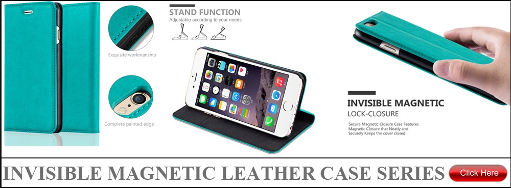 invisible magnet leather case banner