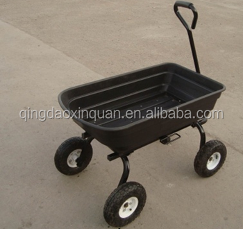 poly side dump cart