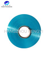 Fancy Polyester yarn FDY Dope Dyed sewing thread beautiful blue color