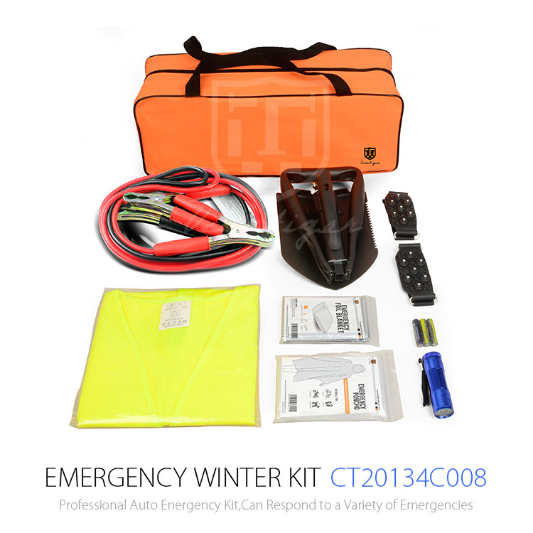 8pcs Roadside Survival Safety Emergency Car Kit With Combination Bag