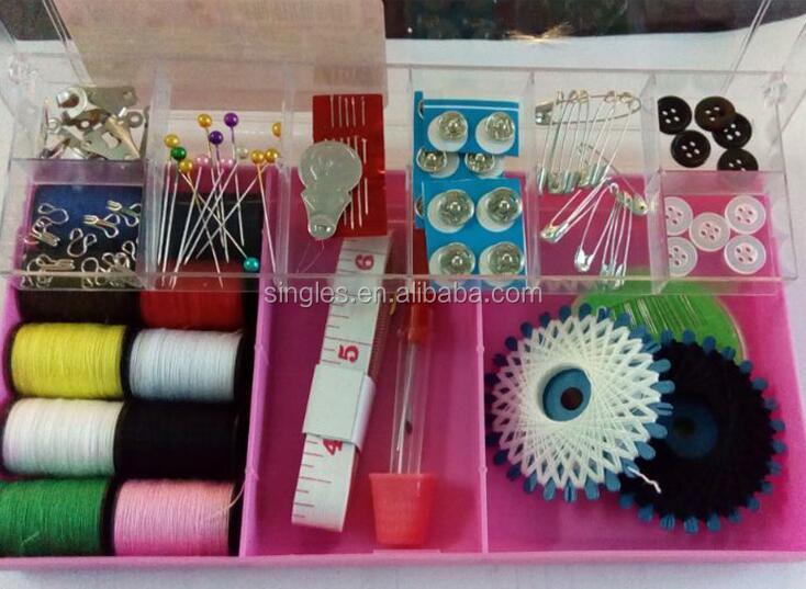 High quality The supply of portable and practical fashion sewing box set Beautiful and compact travel spot wholesale sewing kit
