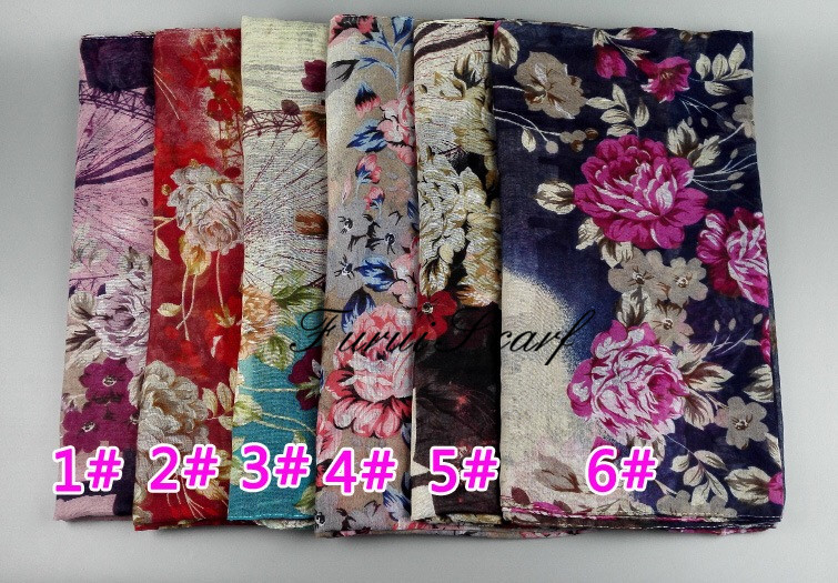 New Arrival Prints Viscose Hijab Plaid Viscose Head Band Shawl Scarf Oversize Hot Sale Bandana Comfortable Shawls Scarves