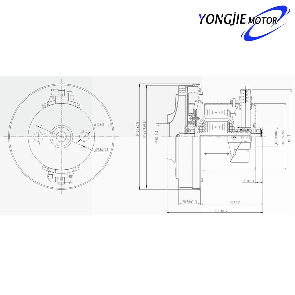 py32 de venta caliente y de alta calidad precio bajo aspiradora motor 129 9 126 83 5mm  230 v