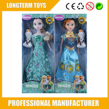 2015 beautiful girls frozen dolls set frozen with dolls snow man Olaf the frozen dolls