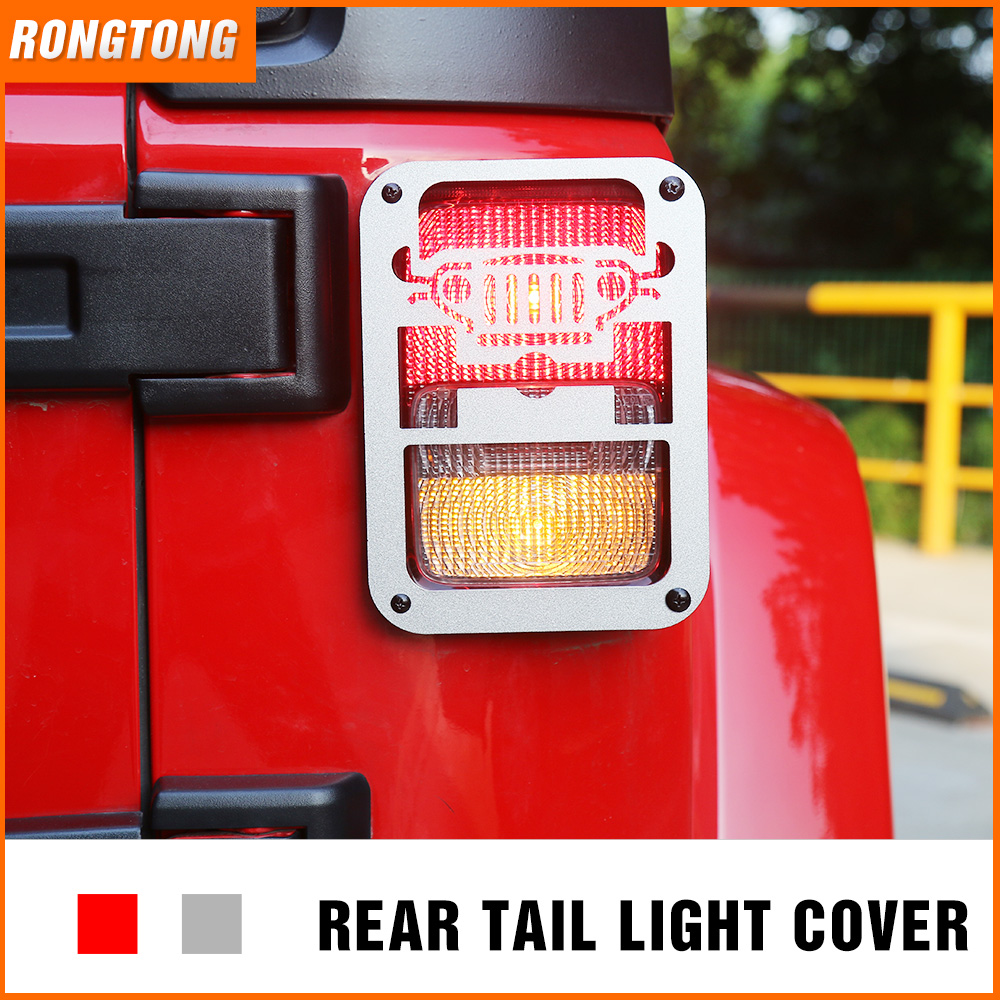 Aluminium Car Accessories Auto Rear Tail Lamp Cover for 07-16 Jeep Wrangler