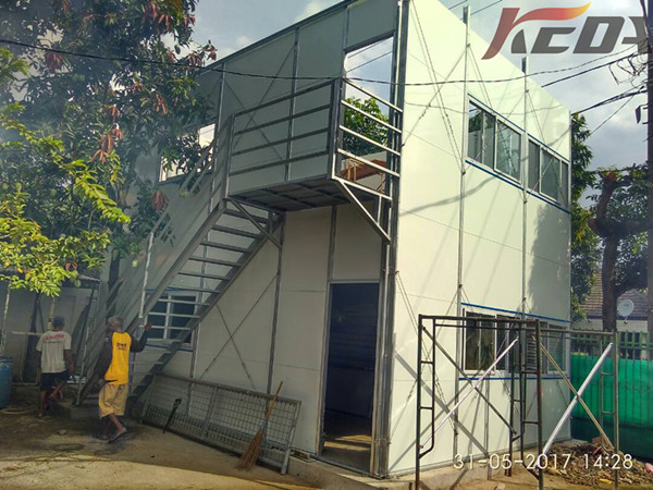 Galvanized Low Cost Prefabricated House Modular Temporary Site Office in Indonesia