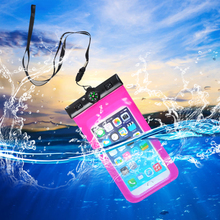 Waterproof neck hanging cell phone bag