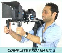 DSLR Kit-3 Rig Movie Kit Shoulder Mount mattebox follow focus rails For Canon 5D Mark II 7D 550D 600D