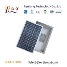 RJ factory 18v Poly Silicon Solar Cells Solar Panel 25w pv module