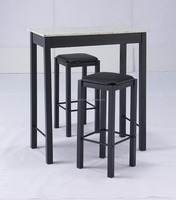 Bar Furniture Type and Modern Appearance Marble base bar table and chairs