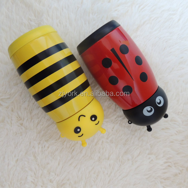 Lovely bee design 220ml capacity double wall stainless steel vacuum flask