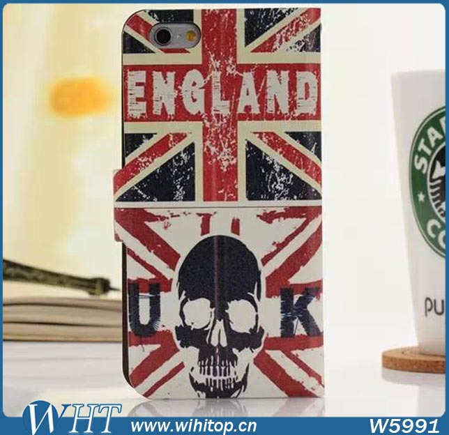 Cool New Fashion Leather Case England Flag Design for iPhone Case 6, more designs...