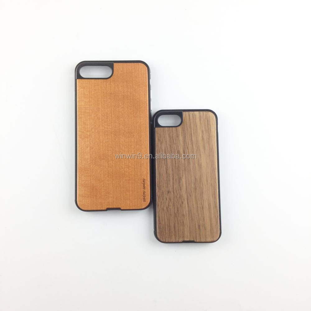 new develop metal and wood phone case for Iphone 6,good looking metal wooden cell phone case for Iphone 7 plus