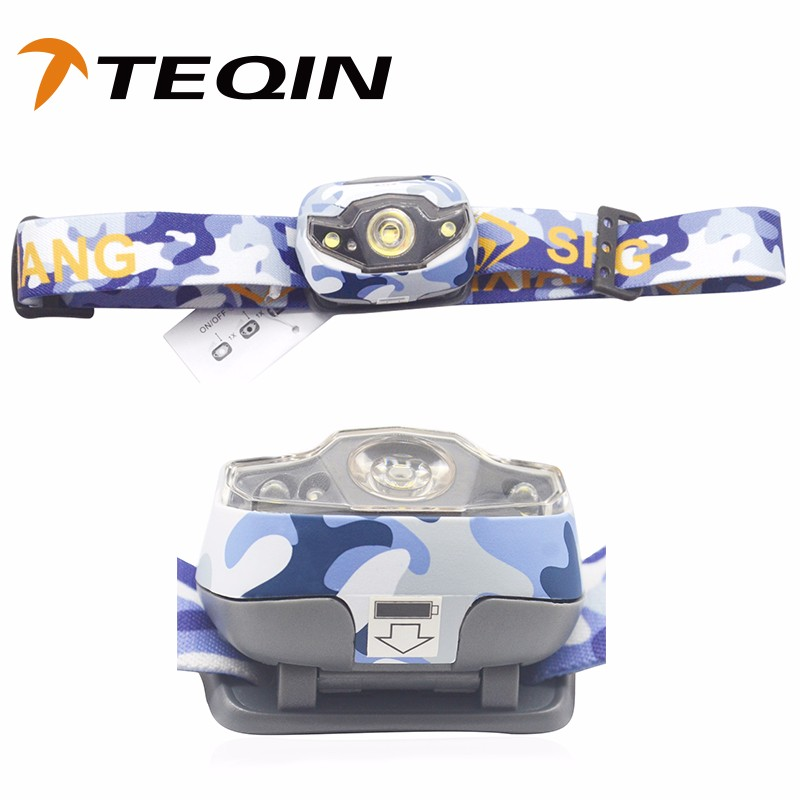 2016 TEQIN Powered By 3*AAA Battery 3 Brightness Waterproof led Headlamp LED for Running, Camping