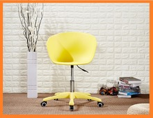 Factory Cheap Colorful Adjustable Plastic Swivel Office Chairs For Home Commercial Use