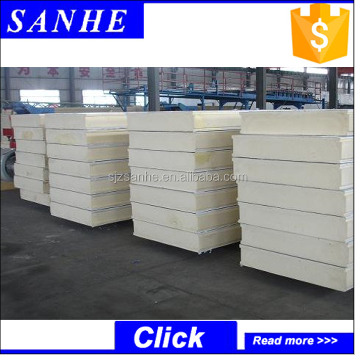 Heat insulation pu sandwich panels/sip polyurethane panel sandwich for prefab house
