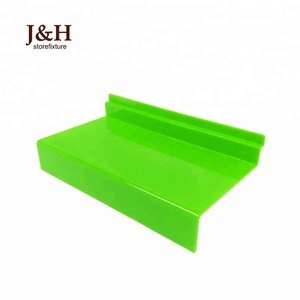 SEPTEMBER EXPO J&H Customized Available Slatwall Shoe Display Shelf Plastic Shoes Shelves for Shoes Store Display Accessories