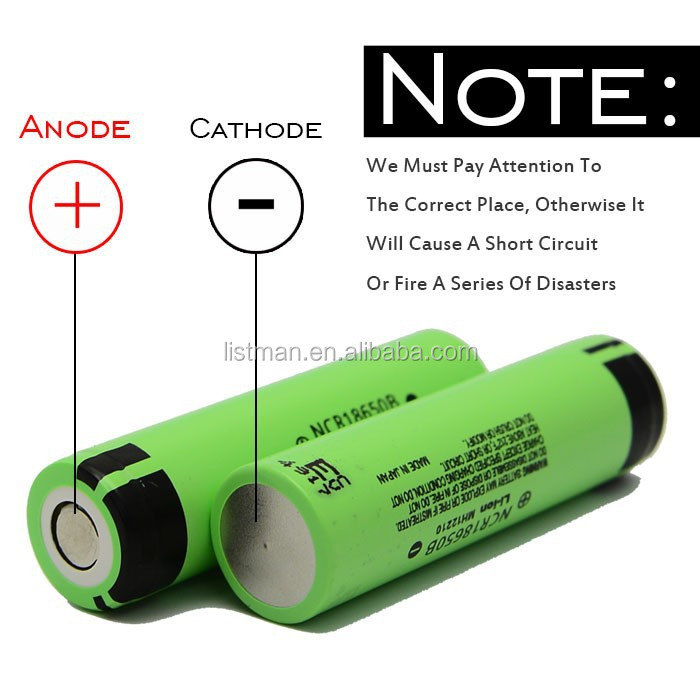 Original NCR18650B 3400mah 18650 battery Cylindrical 18650 rechargeable Lithium ion battery