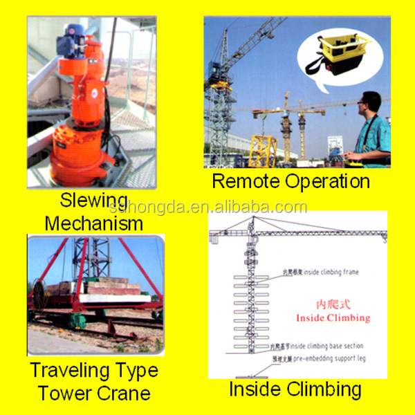 Best Price Professional China Made Building Construction QTZ63F(5810) Favorite Electric/Self-raising Tower Crane