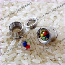 Double Flared Design Stainless Steel Ear Tunnel Piercing Custom Ear Gauges Plugs [SS-F601A]