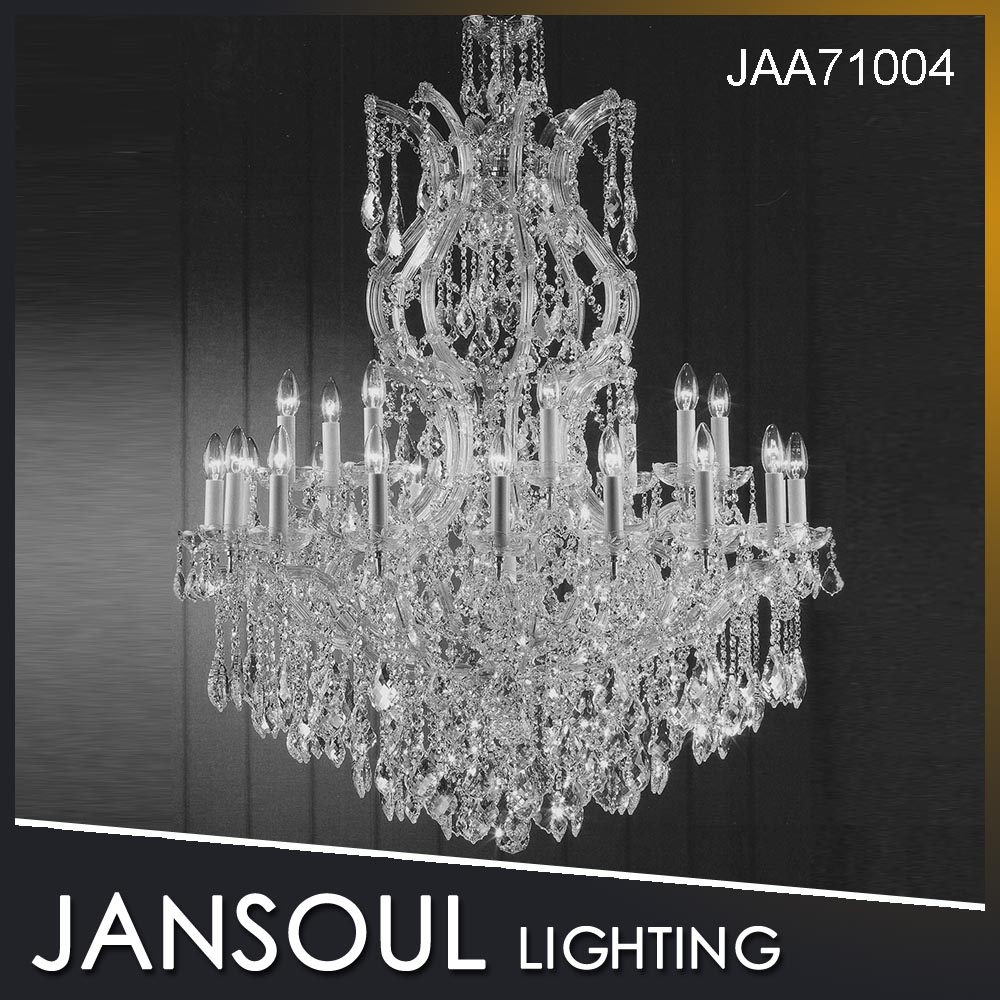25 Lights Large Crystal Pendant Chandelier Light Modern