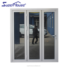 AS2047 bullet proof thermal breakaluminum bi-folding door with double glass
