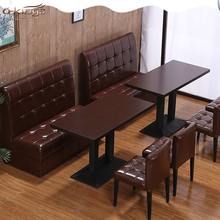 Hot koop restaurant hotel sofa sets ontwerp lederen restaurant booth