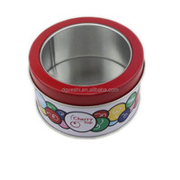 2015 Newest hot selling decorative chocolate tin boxes with pvc window on lid