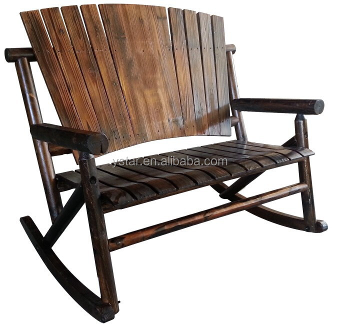 Village-style Furniture Wooden Doubel Rocking Chair
